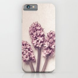 Three Pink Hyacinths iPhone Case