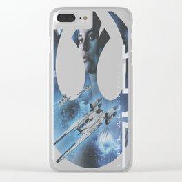 Rebel Alliance Jyn Clear iPhone Case