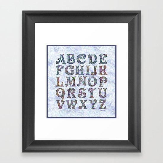The Alphabet Framed Art Print