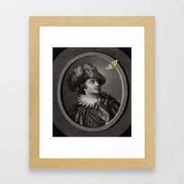 A Moth Framed Art Print