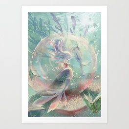 LOVE TO READ | Inside The Bubble Art Print