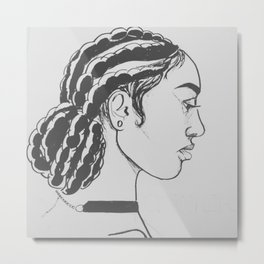 Corn Rows Metal Print