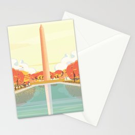 National Mall Illustration Stationery Cards