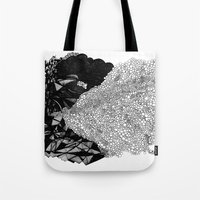nick cave Tote Bags featuring Cave by Virginia Kraljevic