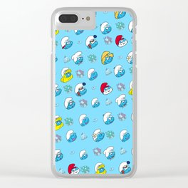 Smurfs Pattern Clear iPhone Case