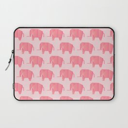 Big, Happy Elephant - Origami Pink Elephant Laptop Sleeve