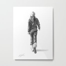 """The Way She Walks"" Metal Print"