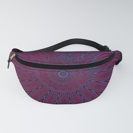 Red and Blue Floral Pattern Design Fanny Pack