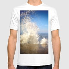 Crashing Wave Mens Fitted Tee MEDIUM White