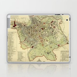 Map Of Rome 1882 Laptop & iPad Skin