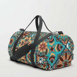Colorful Ethnic Mandala Pattern Duffle Bag