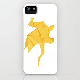 Origami Golden Dragon iPhone Case