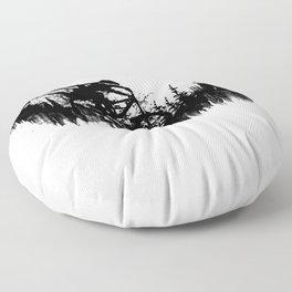 Black Drop Floor Pillow