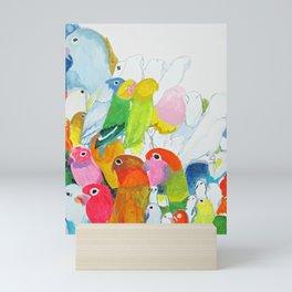 Flock of Birdies Mini Art Print