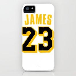 James 23 vector art iPhone Case
