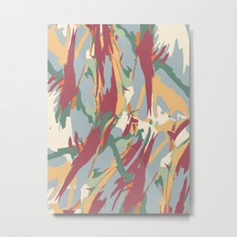 Jungle Camouflage Pattern Metal Print