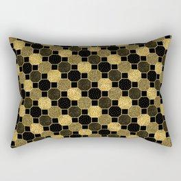 Black and gold geometric pattern Rectangular Pillow