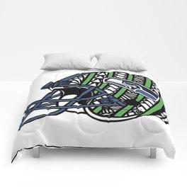 Polynesian Style Seahawks Comforters