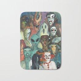 monsters watercolor squad Bath Mat