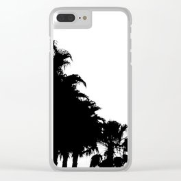 Palm tree Line up! Clear iPhone Case