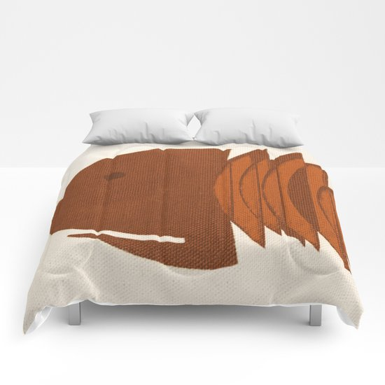 Ocher Fish Comforters