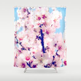 Almond Blossom IV Shower Curtain