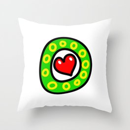Uppercase Doodle Letter O Throw Pillow