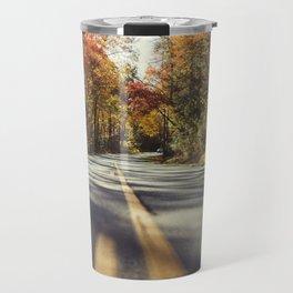 Long mountain road in autumn Travel Mug