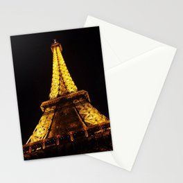 Eiffel Tower at Night Stationery Cards