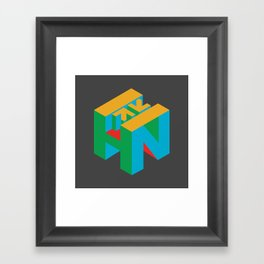 HN Logo Cube Framed Art Print