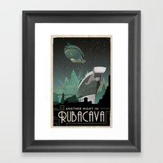 Grim Fandango Vintage Travel Poster - Rubacava Framed Art Print