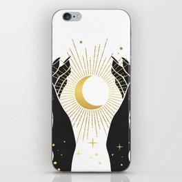 Gold La Lune In Hands iPhone Skin