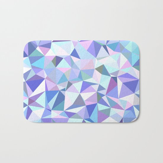 Light purple geometry Bath Mat