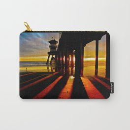 Surf City Sunsets ~ Dark Shadows HB Pier 1 Carry-All Pouch