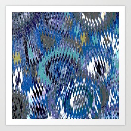 Zag zig Art Print