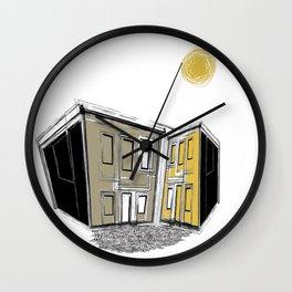 The Yellow Neighbourhood Wall Clock