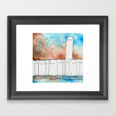 I Have A Hard Time Making Friends At Parties Framed Art Print