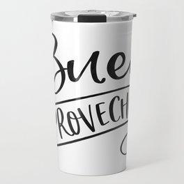 BUEN PROVECHO SIGN, Bon Appetit Sign,Spanish Decor,Spanish Gifts,Food Gift,Kitchen Decor Travel Mug