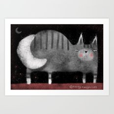GRAY TABBY Art Print