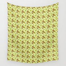 Cute Floral Wall Tapestry