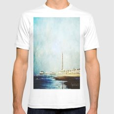 On The Front Textured Fine Art Photograpy Mens Fitted Tee White SMALL