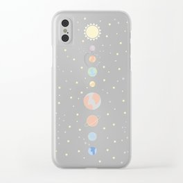 For You - Solar System Illustration Clear iPhone Case