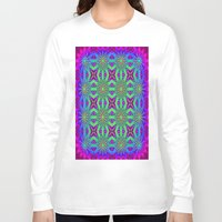 psychedelic art Long Sleeve T-shirts featuring PSYCHEDELIC flowers by 2sweet4words Designs