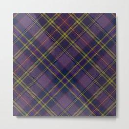 Purple Tartan Metal Print