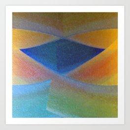 Blue Diamond Squared Art Print