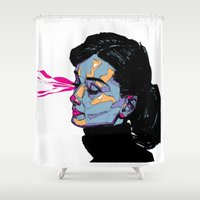 hepburn Shower Curtains featuring A. Hepburn by philip painter