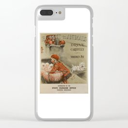 Be Kind To Animals 2 Clear iPhone Case