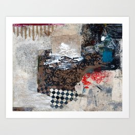 You Make Me Crazy Abstract Mixed Media Collage Art Painting Art Print