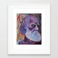 darwin Framed Art Prints featuring Darwin by ArmsReach