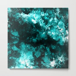 Fantasy Blue Clouds Metal Print